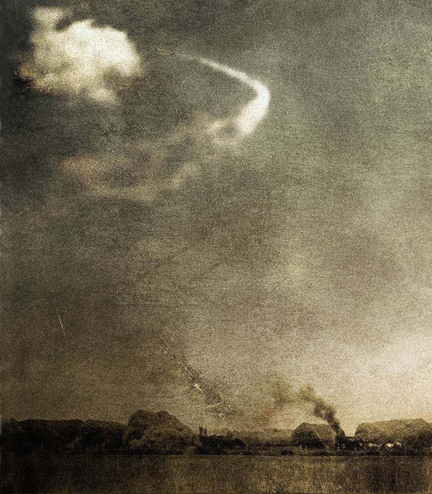 Oliver Wasow, Smoke Over Village 2011, Archival inkjet